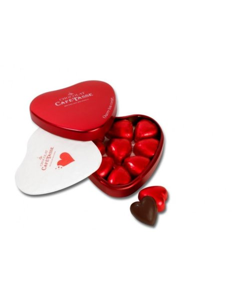 Café-Tasse кутия сърце с шоколад